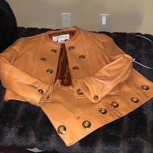 Escada soft leather suit
